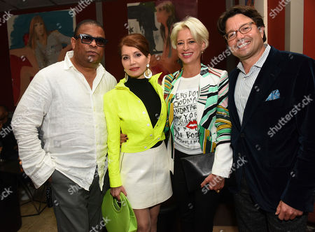 George Wayne, Jean Shafiroff, Dorinda Medley, Andy Goldfarb. Andy Goldfarb, right, Founder of Photo Butler, joins George Wayne, left, Vanity Fair celebrity journalist, Jean Shafiroff, second left, philanthropist, and Dorinda Medley, second right, of The Real Housewives of New York City, at a launch party for Photo Butler, a new photo sharing app, during New York Fashion Week