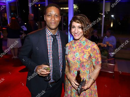 Stock Picture of Kevin Avery, Christine Chambers. Kevin Avery, left, and Christine Chambers attend the 2017 Writers Nominee Reception presented by the Television Academy on at the Saban Media Center in the NoHo Arts District in Los Angeles