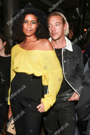 AlunaGeorge, Diplo. AlunaGeorge, left, and Diplo, right, attend the NYFW Spring/Summer 2018 HELMUT LANG Seen By Shayne Oliver fashion show, in New York
