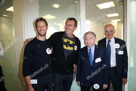 Romain Grosjean ; Jean-Luc Reichmann ; Jean Todt ; Gerard Saillant