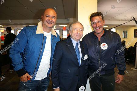 Sebastien Cauet ; Jean Todt ; Benjamin Castaldi