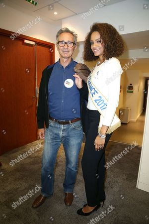 Thierry Lhermitte ; Miss France, Alicia Aylies