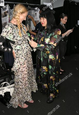 Maggie Rizer, Anna Sui Backstage during the Anna Sui Spring 2018 Collection, held during NYFW at Skylight Clarkson Studios in New York City on Monday, September 11, 2017.