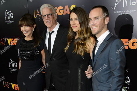 Mary Steenburgen, Ted Danson, Kate Danson, and Charlie McDowell arrive at the after party for a screening of CBS Films' 'Last Vegas' at Haze Nightclub at the ARIA Resort & Casino at CityCenter on in Las Vegas, Nevada