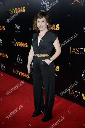 Stock Image of Actress Ashley Spillers arrives at the after party for a screening of CBS Films' 'Last Vegas' at Haze Nightclub at the ARIA Resort & Casino at CityCenter on in Las Vegas, Nevada