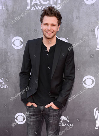 Joel Crouse arrives at the 49th annual Academy of Country Music Awards at the MGM Grand Garden Arena, in Las Vegas