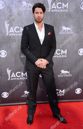 Austin Webb arrives at the 49th annual Academy of Country Music Awards at the MGM Grand Garden Arena, in Las Vegas