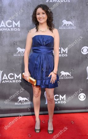 Ashton Shepherd arrives at the 49th annual Academy of Country Music Awards at the MGM Grand Garden Arena, in Las Vegas