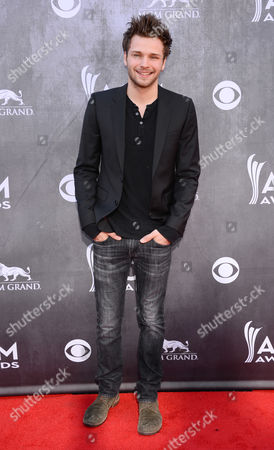 Stock Picture of Joel Crouse arrives at the 49th annual Academy of Country Music Awards at the MGM Grand Garden Arena, in Las Vegas