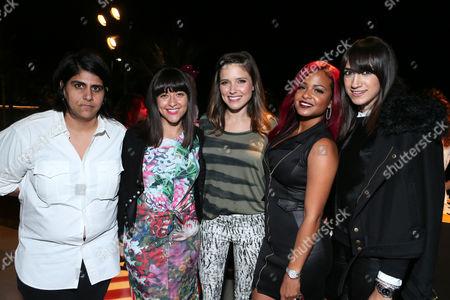 CEO of Made With Elastic Moj Mahdara, Alisa Gould Simon, Sophia Bush, Christina Milian and Mandana Dayani at Beautycon 2013 VIP Influencers Welcome Event at YouTube on in Los Angeles