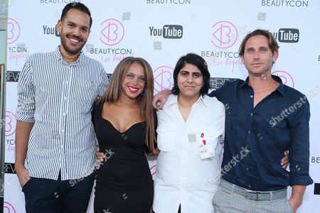 Jonathan Burford, Marina Curry, Moj Mahdara and Steve Crosby at Beautycon 2013 VIP Influencers Welcome Event at YouTube on in Los Angeles