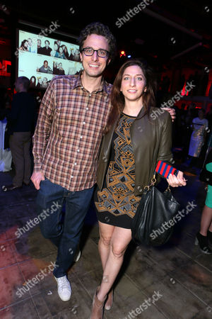 BuzzFeed CEO Jonah Peretti and Chelsea Peretti at BuzzFeed LA's Office Grand Opening, on in Los Angeles