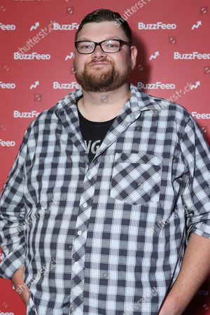 Stock Photo of Christopher Douglas Reed at BuzzFeed LA's Office Grand Opening, on in Los Angeles