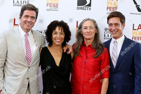 """Josh Welsh, Stephanie Allain, Mary Sweeney and Sean McManus at The LA Film Festival's gala screening of """"Fruitvale Station"""" at the Regal Cinemas on in Los Angeles"""