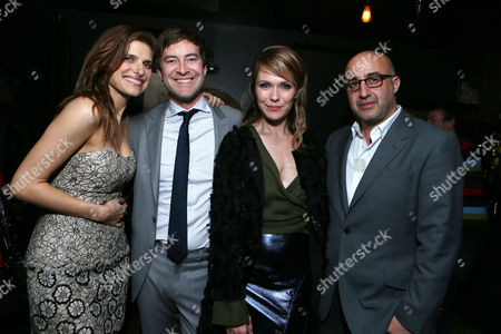 Lake Bell, Executive Produce/Screenwriter Mark Duplass, Director Katie Aselton and LD Entertainment's David Dinerstein at the LD Entertainment Special Screening of Black Rock, on Wednesday, May, 8, 2013 in Los Angeles