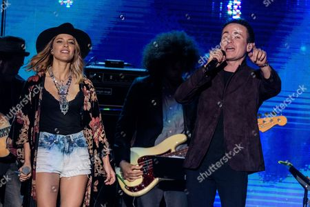 Debi Nova, left, and Juan Fernando Fonseca perform at RiseUp As One at Cross Border Xpress, in San Diego