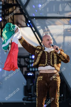 Lupillo Rivera performs at the RiseUp As One at Cross Border Xpress, in San Diego