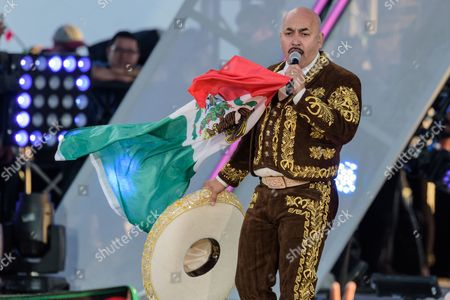 Stock Picture of Lupillo Rivera performs at the RiseUp As One at Cross Border Xpress, in San Diego