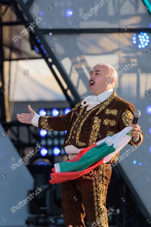 Stock Photo of Lupillo Rivera performs at the RiseUp As One at Cross Border Xpress, in San Diego