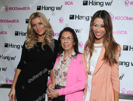 Joanna Krupa and Michelle Marie with her mother at BOOBIES Breast Cancer Awareness Fundraiser hosted by StyleSeenDaily at Gavert Atelier Salon at, on in Los Angeles