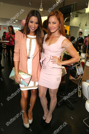 Michelle Marie and Amy Paffrath at BOOBIES Breast Cancer Awareness Fundraiser hosted by StyleSeenDaily at Gavert Atelier Salon at, on in Los Angeles