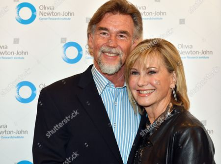 Stock Picture of Olivia Newton-John and John Easterling