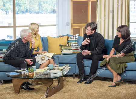 Phillip Schofield and Holly Willoughby with Tom Hughes and Daisy Goodwin