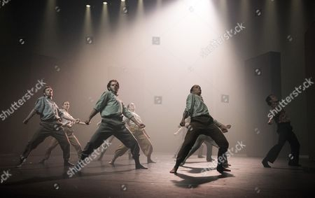 Editorial photo of 'Grand Finale' Dance performed by Hofesh Shechter Dance Company at Sadler's Wells Theatre, London, UK, 12 Sep 2017