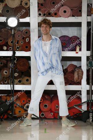 Sander Lak on the catwalk