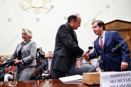 Susan Thornton, Marshall Billingslea, Ed Royce. Acting Assistant Secretary of State for East Asian and Pacific Affairs Susan Thornton, left, walks to her seat as Assistant Secretary of the Treasury for Terrorism and Financial Intelligence Marshall Billingslea, shakes hands with House Foreign Affairs Committee Chairman Ed Royce, R-Calif., at the start of a hearing on North Korea sanctions, on Capitol Hill in Washington