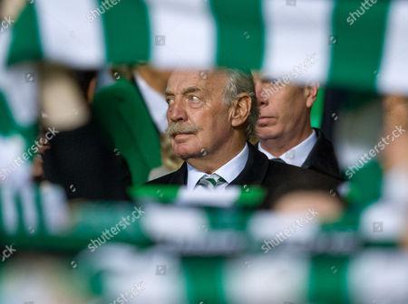 Celtic major shareholder Dermot Desmond in the Directors Box