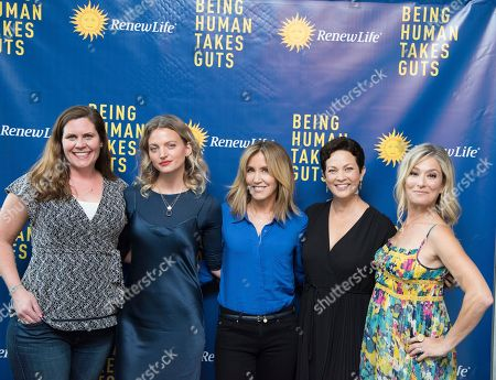 "Emmy-nominated actress Felicity Huffman, NY Times best-selling cookbook author Ellie Krieger, RDN, model Amanda Quinones, and Katie Keil, marketing director for Renew Life, came together at Gansevoort Park Ave NYC to speak about the importance of a healthy gut at the Power Your Potential panel moderated by NBC and USA Network's ""Talk Stoop"" host Cat Greenleaf as part of the Renew Life Probiotics ""Being Human Takes Guts"" initiative on in New York"