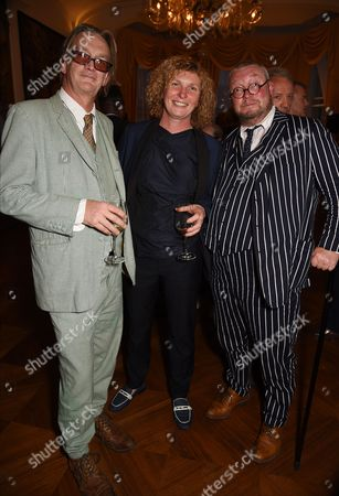 Fergus Henderson (R) with guests