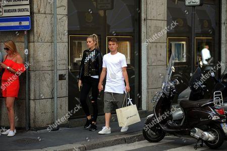 Adem Ljajic and girlfriend Sofija Milosevic