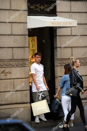 Stock Photo of Adem Ljajic and girlfriend Sofija Milosevic