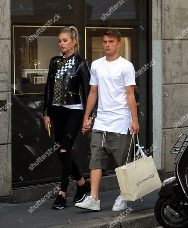 Editorial photo of Adem Ljajic out and about, Milan, Italy - 12 Sep 2017