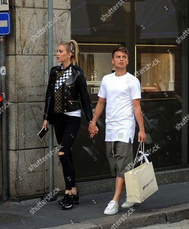 Stock Picture of Adem Ljajic and girlfriend Sofija Milosevic