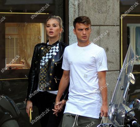 Stock Image of Adem Ljajic and girlfriend Sofija Milosevic