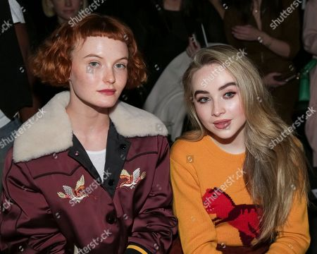 Kacy Hill, Sabrina Carpenter. Model Kacy Hill, left, and singer Sabrina Carpenter attend the Coach 2018 Spring/Summer Presentation, in New York