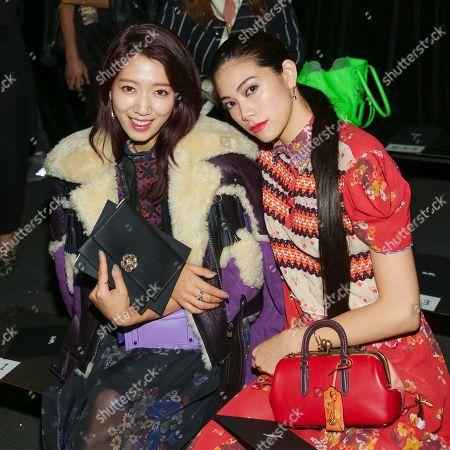 Shin Hye Park, Hikari Mori. Actresses Shin Hye Park, left, and Hikari Mori attend the Coach 2018 Spring/Summer Presentation, in New York