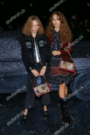 Petra Collins, Anna Collins. Photographer Petra Collins, left, and dancer Anna Collins attend the Coach 2018 Spring/Summer Presentation, in New York