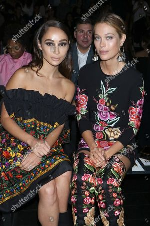 Cara Santana and Genevieve Barker in the front row