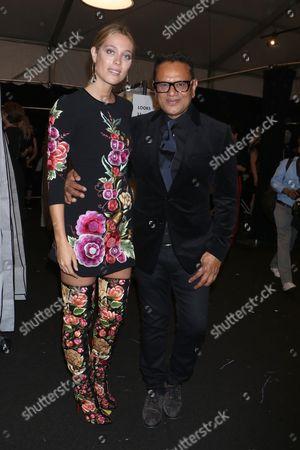 Editorial photo of Naeem Khan show, Front Row, New York Fashion Week, USA - 12 Sep 2017