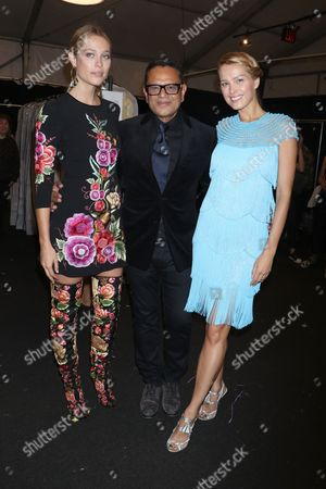 Genevieve Barker, Naeem Khan and Petra Nemcova in the front row