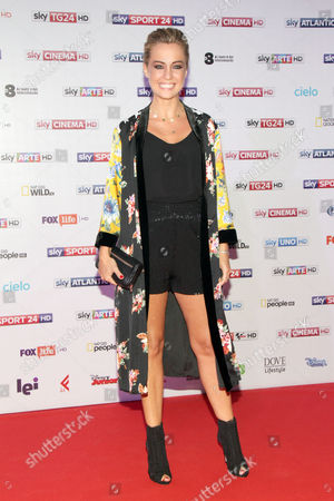 Editorial image of Sky Upfront TV presentation, Arrivals, Milan, Italy - 12 Sep 2017