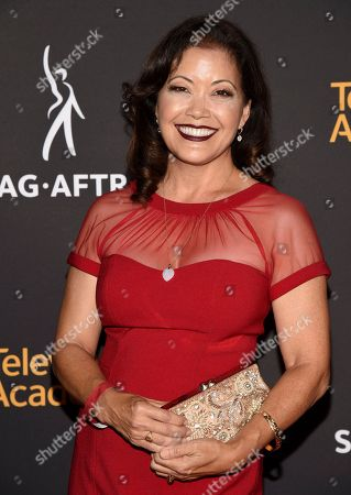 Stock Image of Ren Hanami arrives at the 2017 Dynamic and Diverse Emmy Nominee Reception presented by the Television Academy, at the Saban Media Center in North Hollywood, Calif