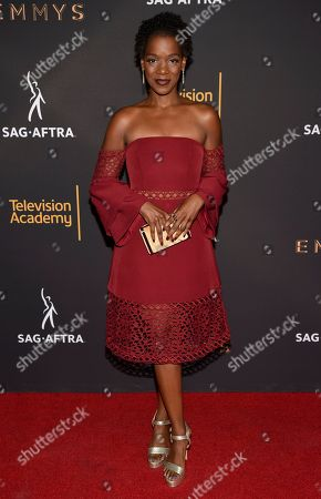 Kelsey Scott arrives at the 2017 Dynamic and Diverse Emmy Nominee Reception presented by the Television Academy, at the Saban Media Center in North Hollywood, Calif