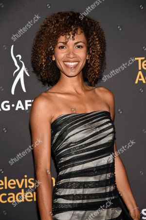 Erica Luttrell arrives at the 2017 Dynamic and Diverse Emmy Nominee Reception presented by the Television Academy, at the Saban Media Center in North Hollywood, Calif