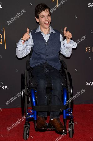 Micah Fowler arrives at the 2017 Dynamic and Diverse Emmy Nominee Reception presented by the Television Academy, at the Saban Media Center in North Hollywood, Calif