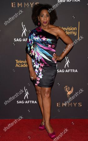 Dawnn Lewis arrives at the 2017 Dynamic and Diverse Emmy Nominee Reception presented by the Television Academy, at the Saban Media Center in North Hollywood, Calif